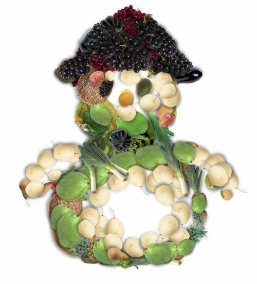 Veggie Snowman 2