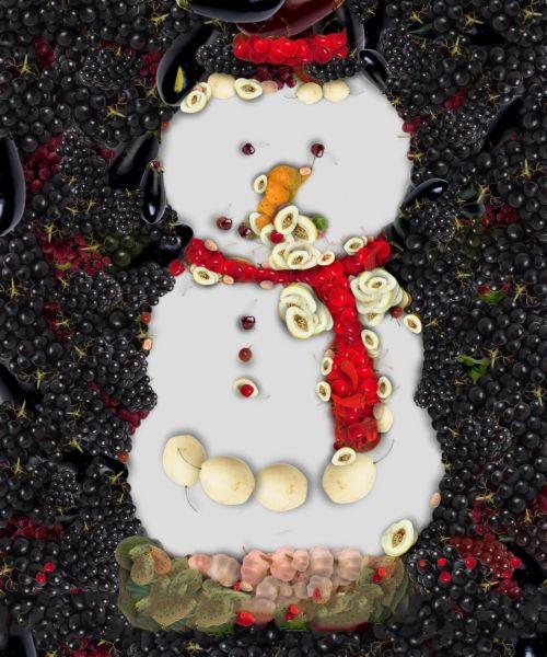 Veggie Snowman 3