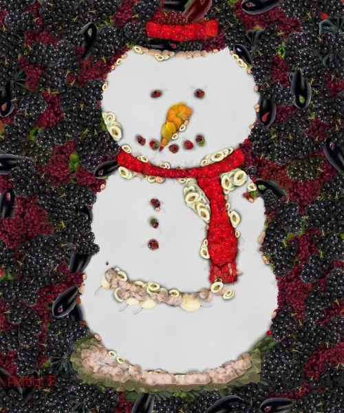 Veggie Snowman