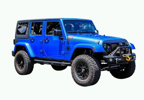 transporto priemonė,visas reljefas,Jeep,Wrangler,neribotas,mėlynas,png