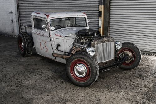 vehicle rat rod hot rod