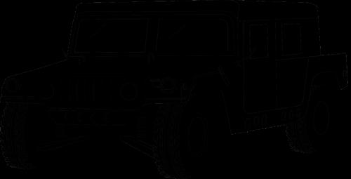 transporto priemonė,armija,Hummeras,mus,amerikietis,usa,siluetas,hummerai,karas,šarvuotos,nemokama vektorinė grafika