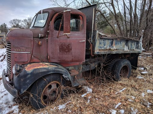 vehicle  truck  old