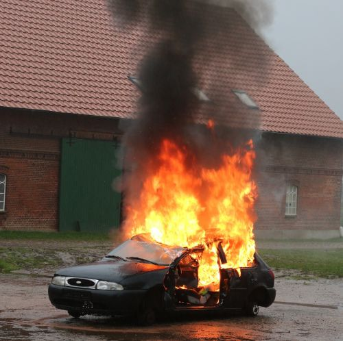 vehicle fire fire exercise