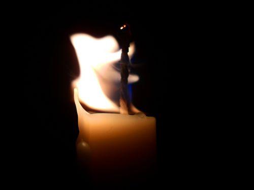 vela luz llama