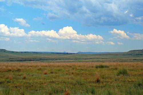 Veld Landscape With Cloud
