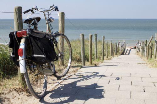 Bike Facing The Sea