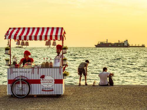 vendor kiosk vintage promenade