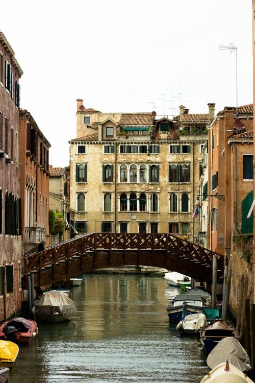 venetian canal canal bridge old europe