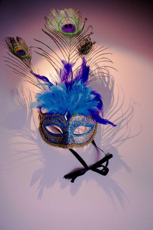 venetian mask peacock features