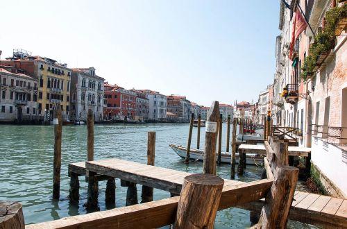 venezia waterway old houses