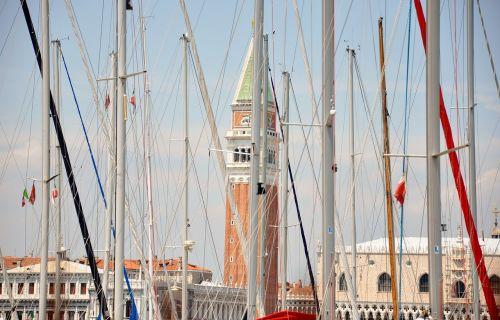 venice st mark's boats and campanile