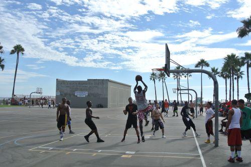 venice beach basketball hoops