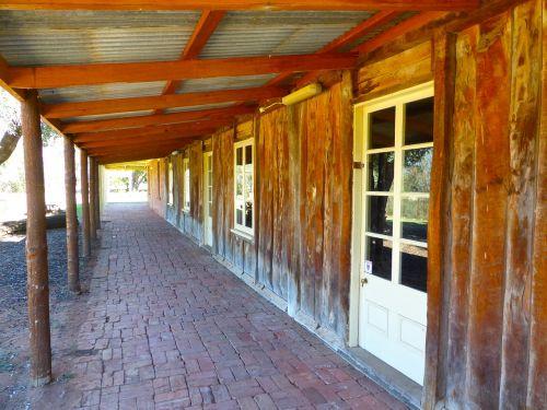 verandah slab hut wooden