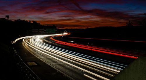 verkehr autobahn lighttrail