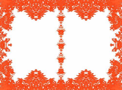 Vermillion Double Foliage Frame
