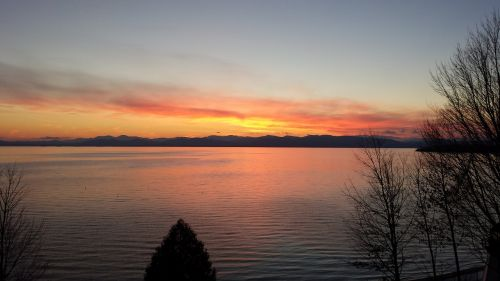 vermont lake champlain sunset