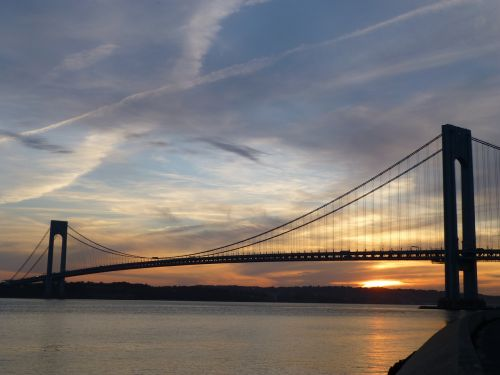 verrazano-narrows bridge bridge sunset
