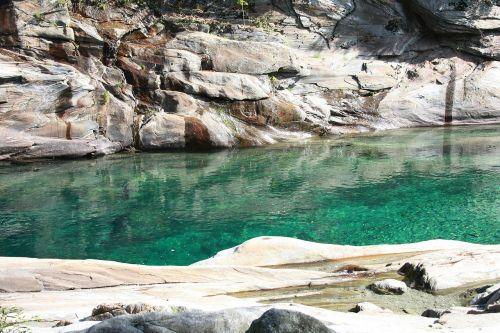 verzasca riverbed water