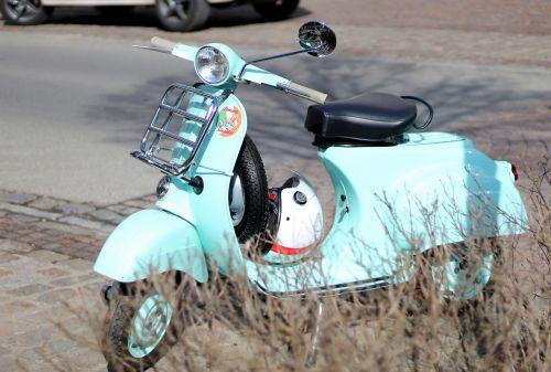 vespa ice cream parlour motor scooter