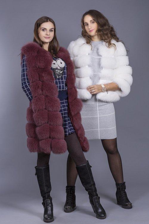 vest  fur coat  girl
