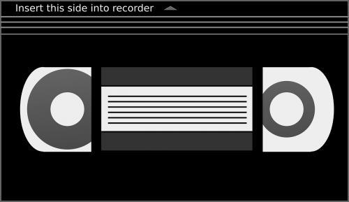 vhs,kasetė,juosta,video,vaizdo kasetė,vaizdo įrašas,nemokama vektorinė grafika
