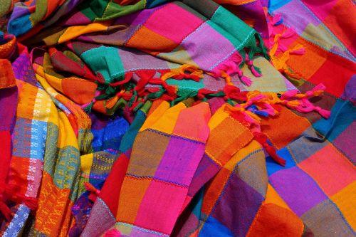 vibrant fabric cloth
