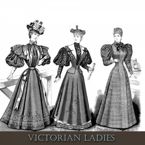 Victorian Ladies Clipart