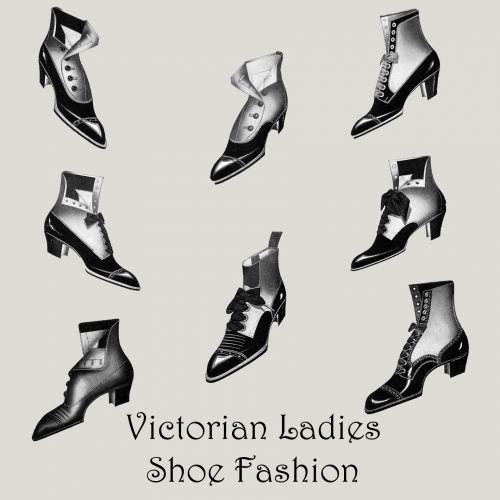 Victorian Ladies Shoes Clipart