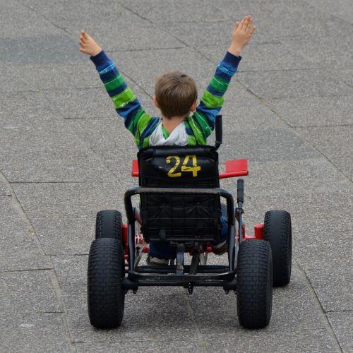 pergalė, Gocart, vaikas, berniukas, žmonės, laimėti, nugalėtojas, keliauti ir keliauti, transportas