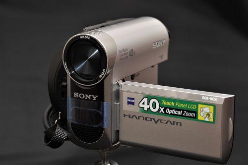 video camera closeup film
