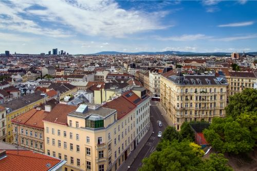 vienna downtown panorama