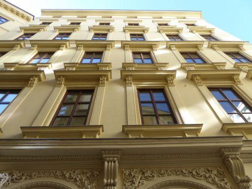 vienna facade yellow