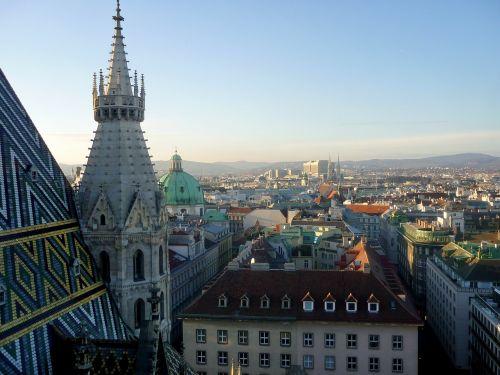vienna panorama austria