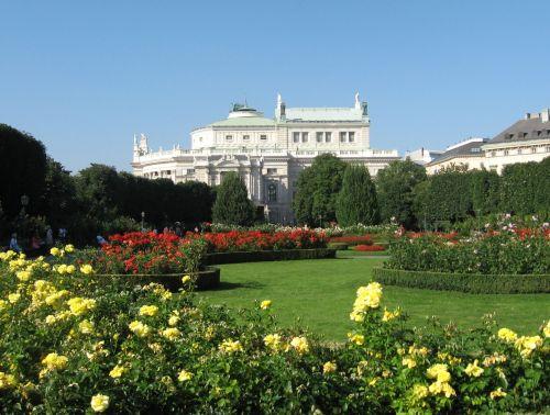 Vienna Volksgarten With Roses