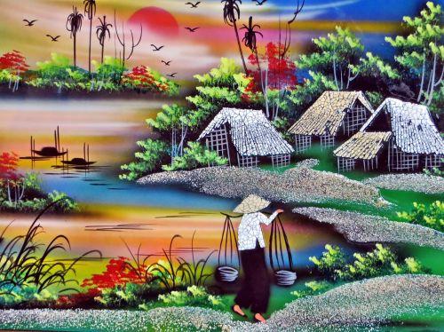 viet nam saigon painting