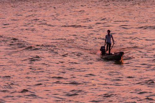 vietnam mekong river evening sun