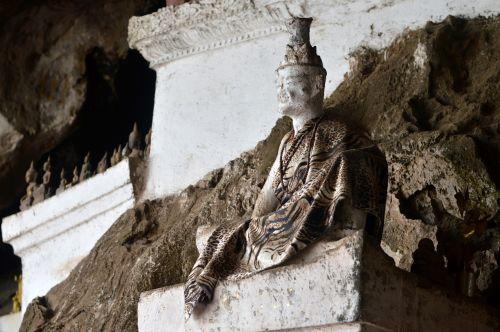 Vietnamas,tūkstančiai budų urvų,luang prabang,Budos statulos,urvas