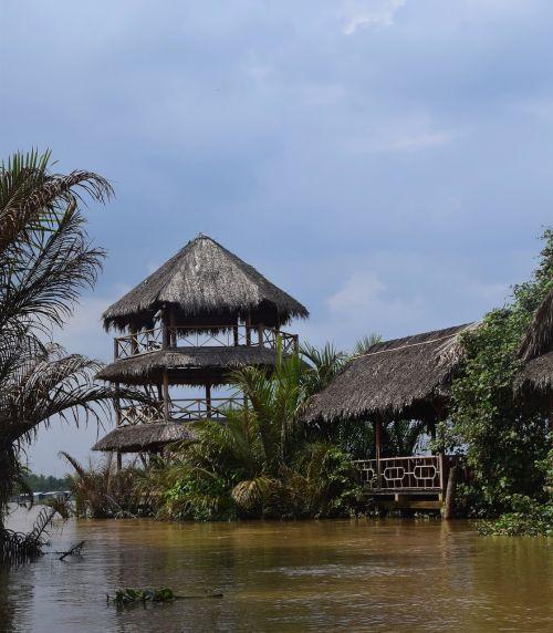 vietnam mekong river hut