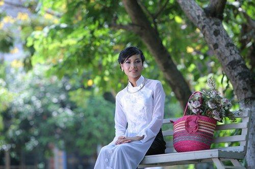 vietnam  girl  long coat