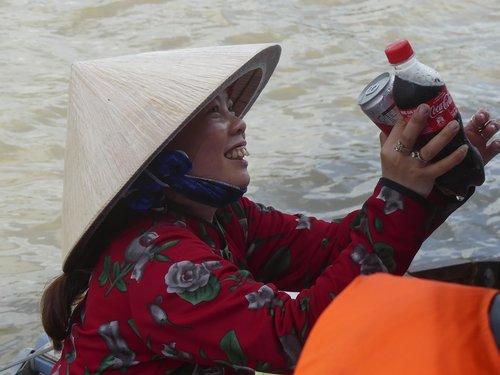 vietnam  floating market  boat