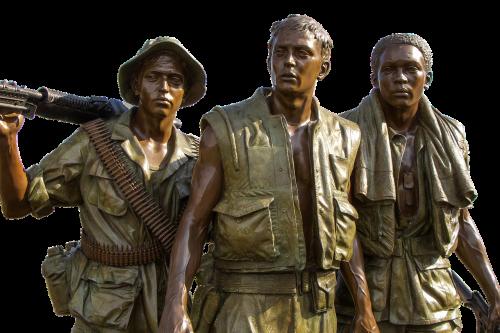 vietnam memorial soldiers bronze