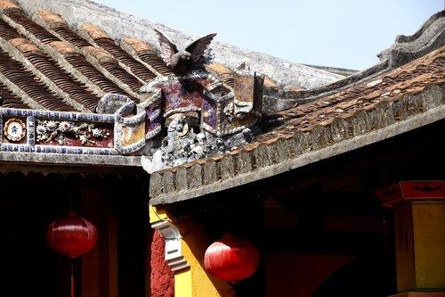 vietnam temple  hoian  unesco