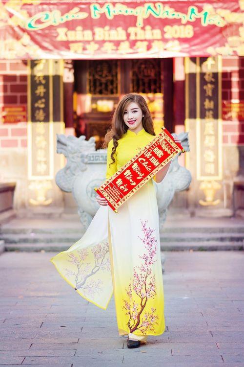 ao dai people of vietnam vietnamese beauty
