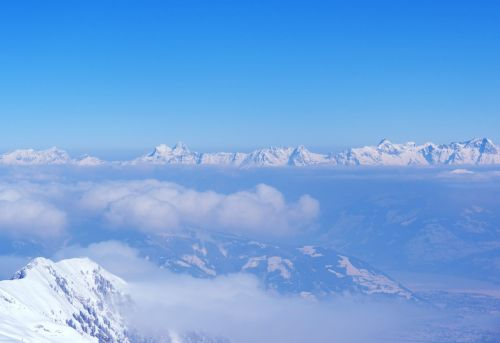 view kitzbühel alps above the clouds