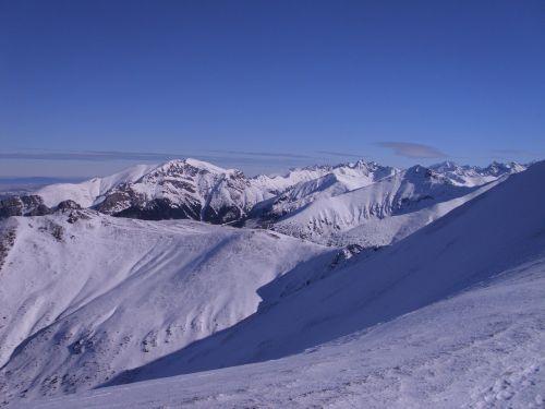 view mountains western tatras