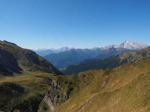 view distant view cima della vezzana