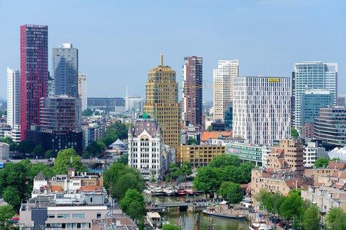 view  skyline  rotterdam
