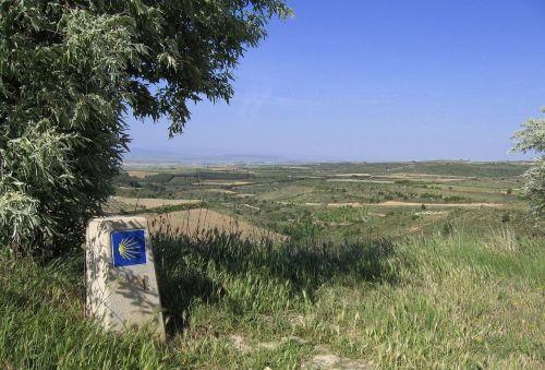 view jakobsweg landscape