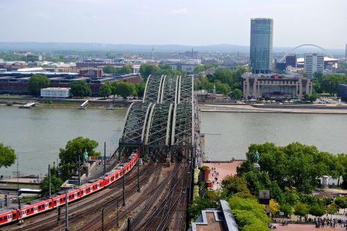 view from dom cologne rheinbrücke